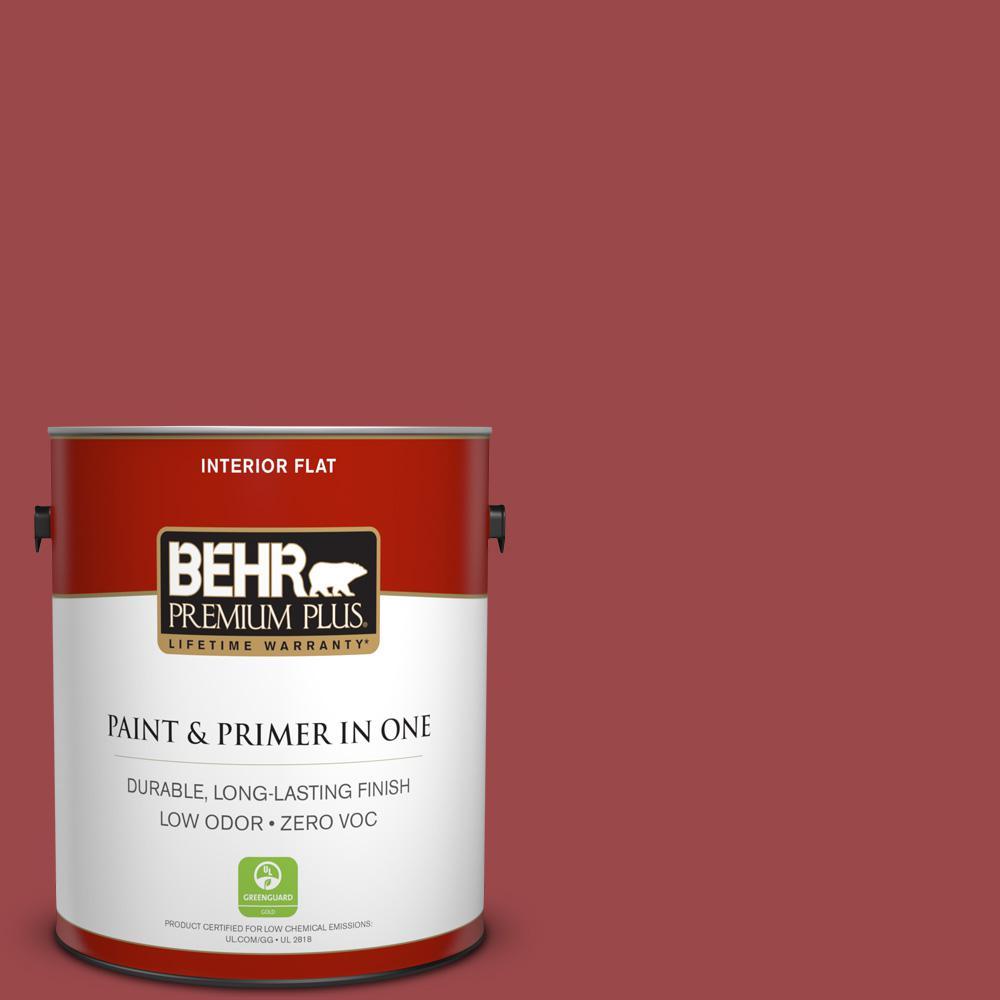 BEHR Premium Plus 1-gal. #ECC-10-3 Holly Berry Zero VOC Flat Interior Paint
