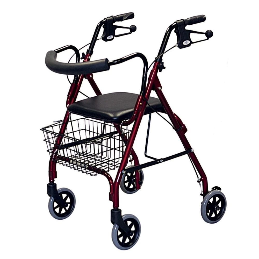 Medline Rollator Walker In Blue Mds86810b The Home Depot