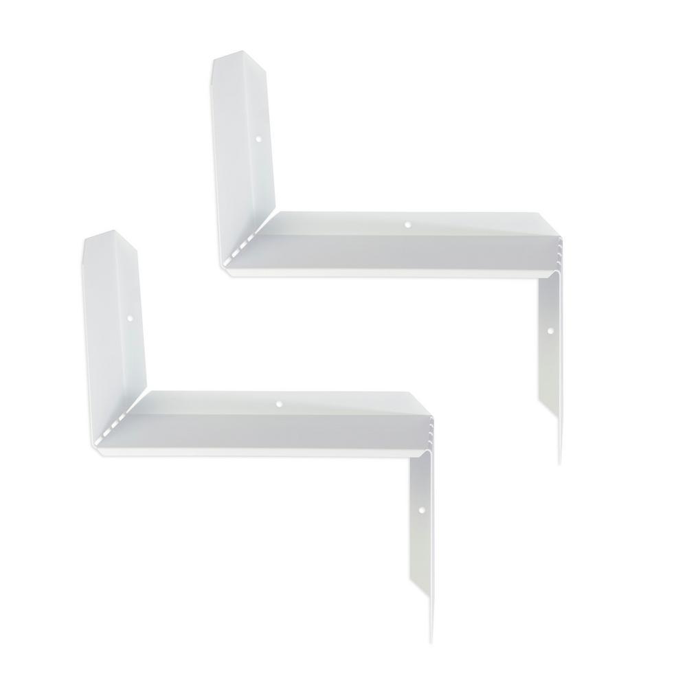 Flex White Short-Sleeve Shelf (2-Pack)