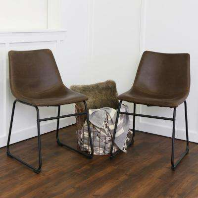 Wasatch Brown Faux Leather Dining Chair (Set of 2)