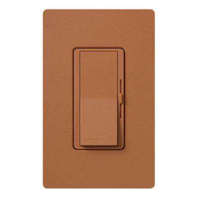 Diva Dimmer for Incandescent and Halogen, 600-Watt, Single-Pole or 3-Way, Terracotta