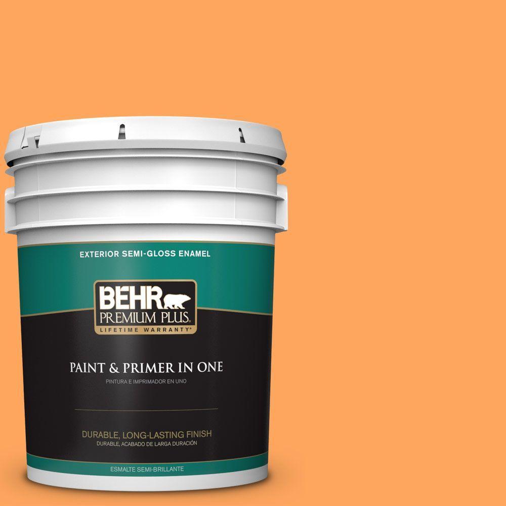5-gal. #270B-5 Melon Semi-Gloss Enamel Exterior Paint