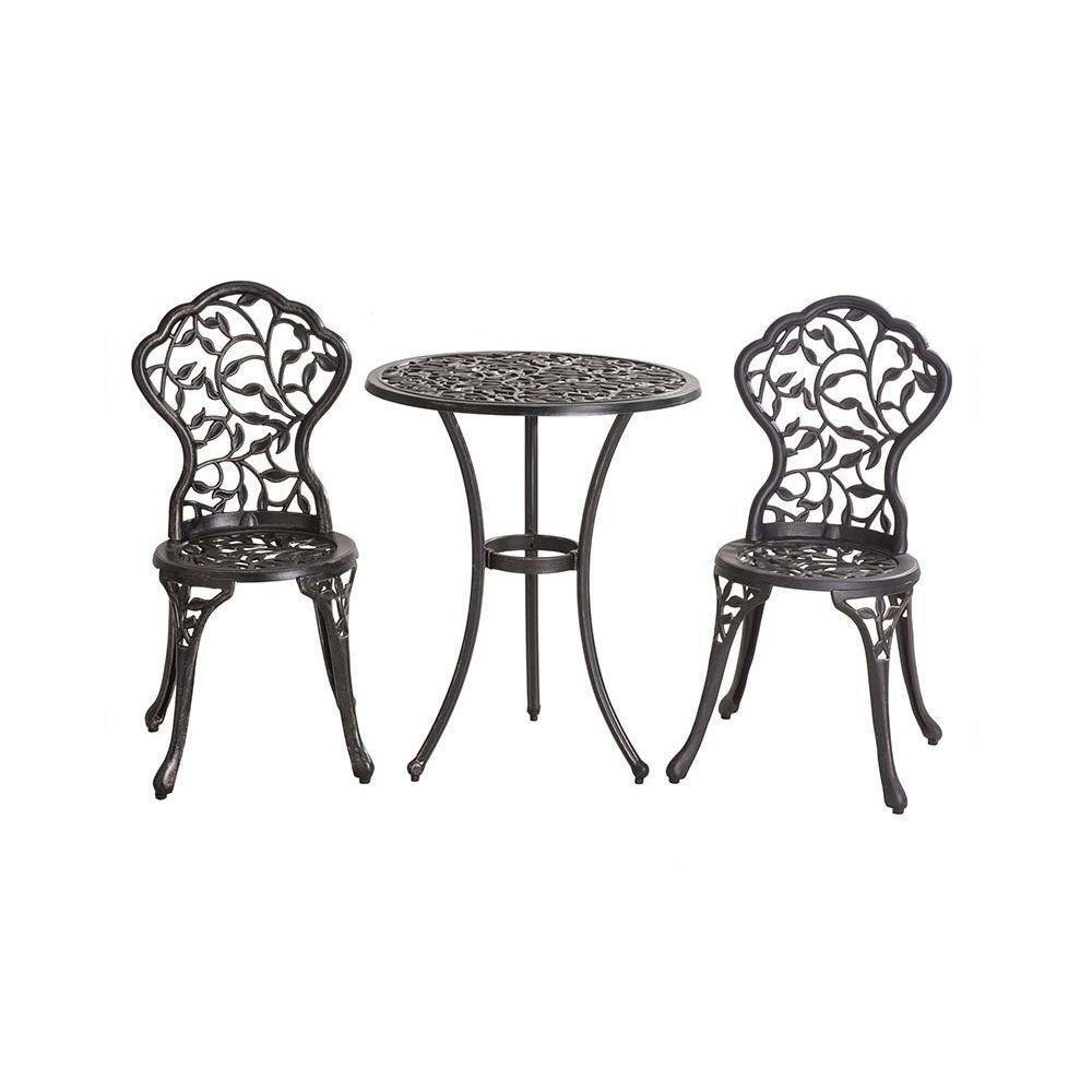 sunjoy vinely 3 piece patio bistro set 110202004 the home depot. Black Bedroom Furniture Sets. Home Design Ideas