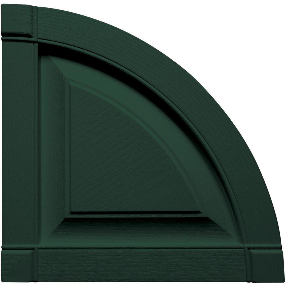 15 in. x 15 in. Raised Panel Design Midnight Green Quarter Round Tops Pair #122