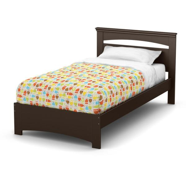 South Shore Libra Chocolate Twin Bed Frame