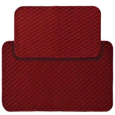 Town Square Chili Red 2 ft. x 3 ft. 4 in. 2-Piece Rug Set