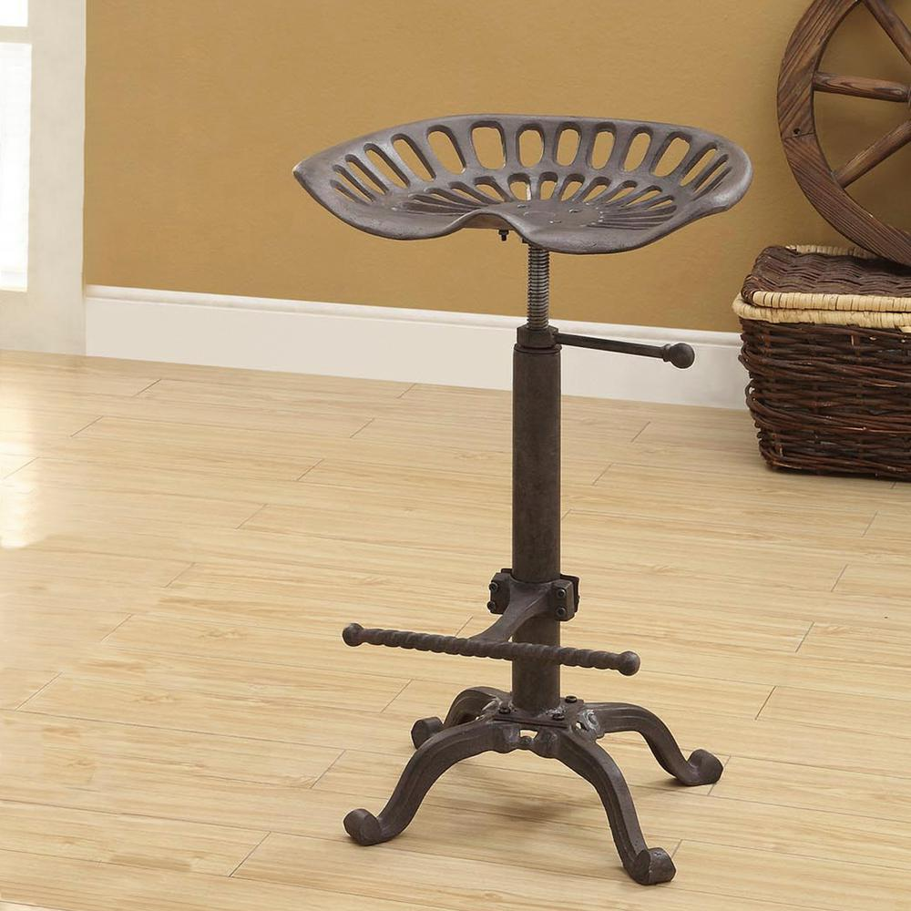 Carolina Cottage Tractor Seat Adjustable Height Industrial Bar Stool