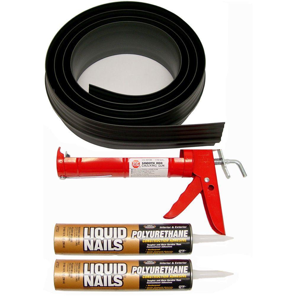 Auto Care Products 20 ft. Black Garage Door Threshold Kit