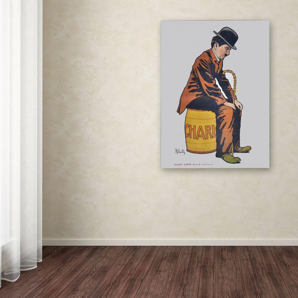 19 in. x 14 in. Chaplin Canvas Art