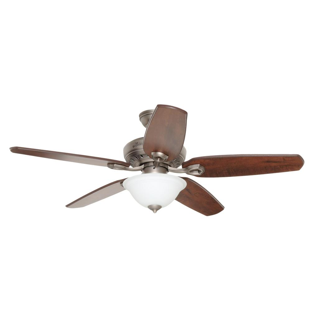 Hunter Fairhaven 52 in. Antique Pewter Indoor Ceiling Fan with Light Kit