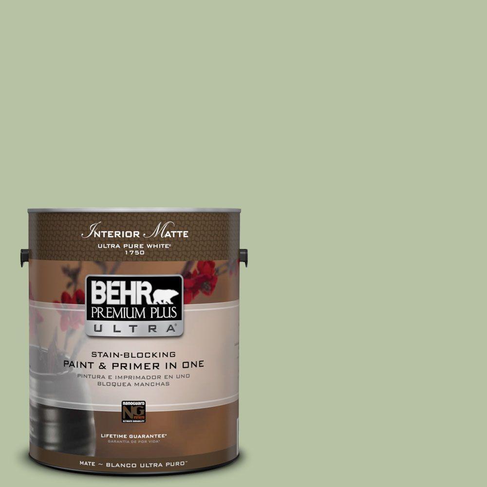 BEHR Premium Plus Ultra 1 gal. #M380-4 Chopped Dill Matte Interior Paint