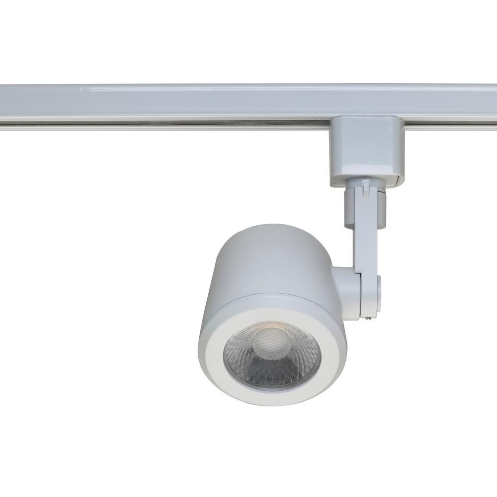 progress lighting alpha trak collection 1 light white track lighting head p9201 28 the home depot. Black Bedroom Furniture Sets. Home Design Ideas