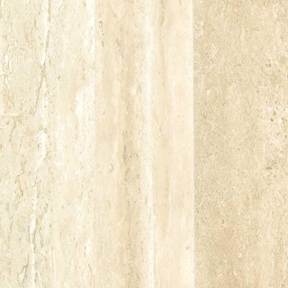 Vanilla Travertine Laminate Flooring - 5 in. x 7 in. Take Home Sample