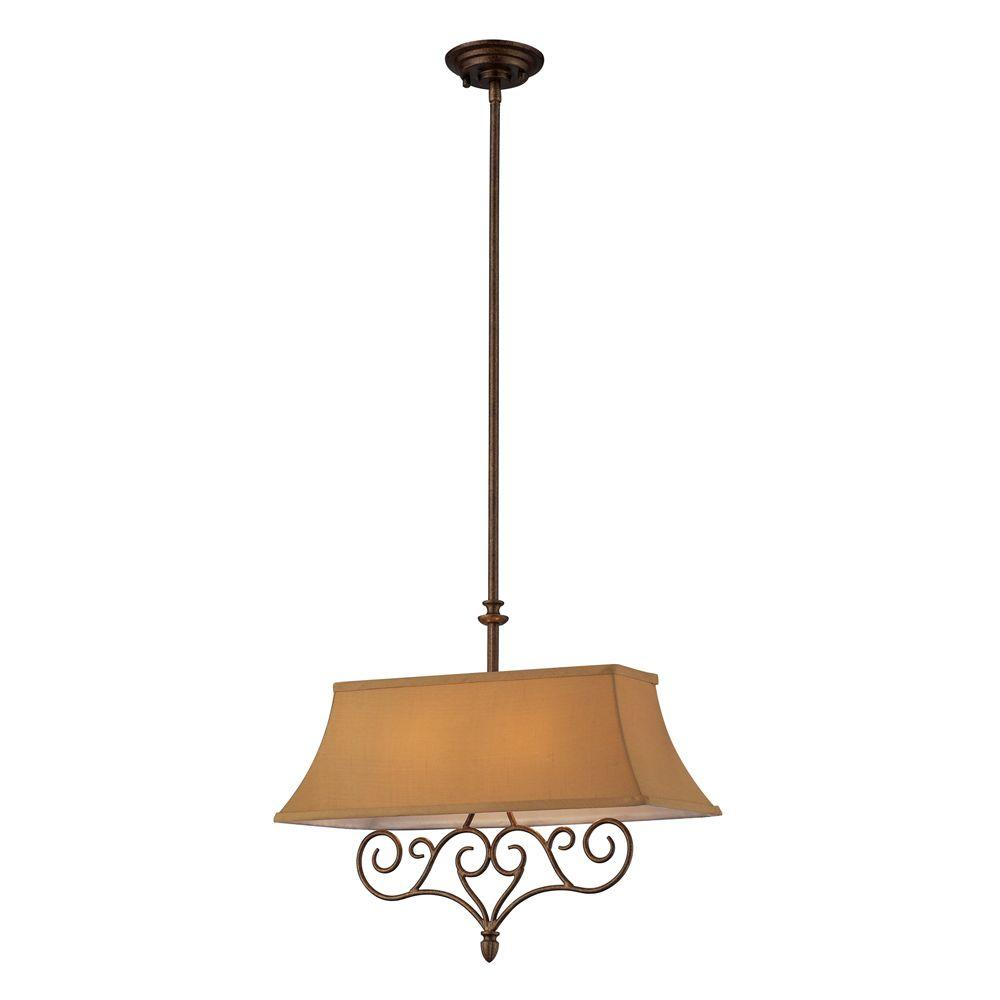 Titan Lighting 2-Light Mocha Ceiling Pendant
