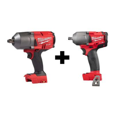 M18 FUEL 18-Volt Lithium-Ion Brushless Cordless 1/2 in. High Torque & Mid Torque Impact Wrench W/ Friction Ring (2-Tool)