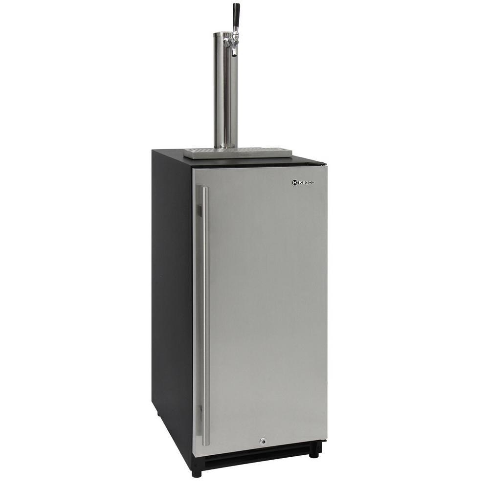 15 in. Wide Quarter Slim Beer Keg Dispenser with Single Tap