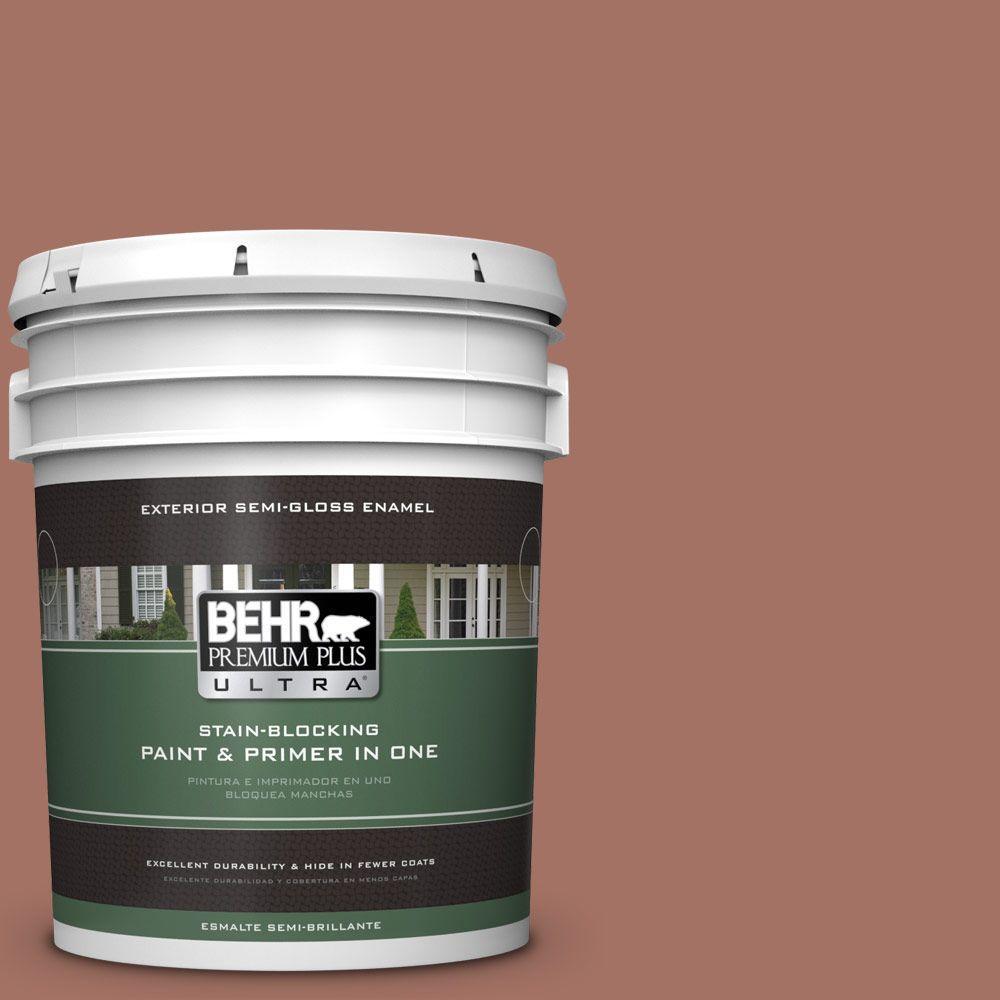5-gal. #200F-5 Toasted Nutmeg Semi-Gloss Enamel Exterior Paint