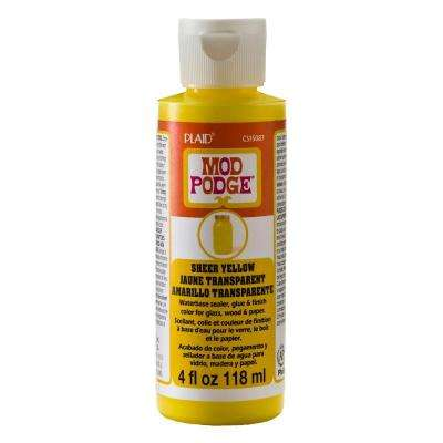 Sheer Colors 4 oz. Yellow Transparent Paint