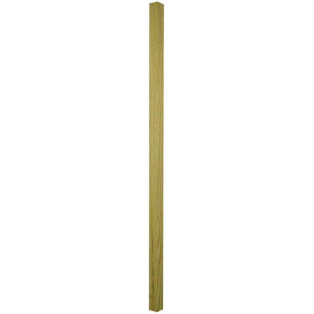 36 in. x 1-1/4 in. Unfinished Oak Square Baluster