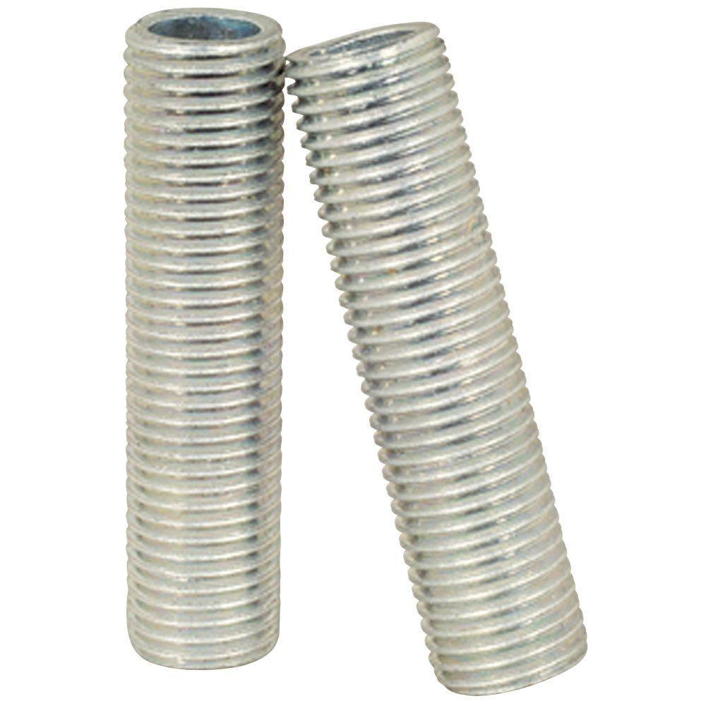 Four 1-1/2 in. Metallic Silver Nipples