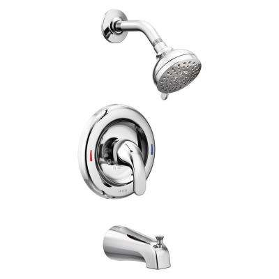 Peachy Adler Single Handle 4 Spray Tub And Shower Faucet With Valve In Chrome Valve Included Download Free Architecture Designs Ferenbritishbridgeorg