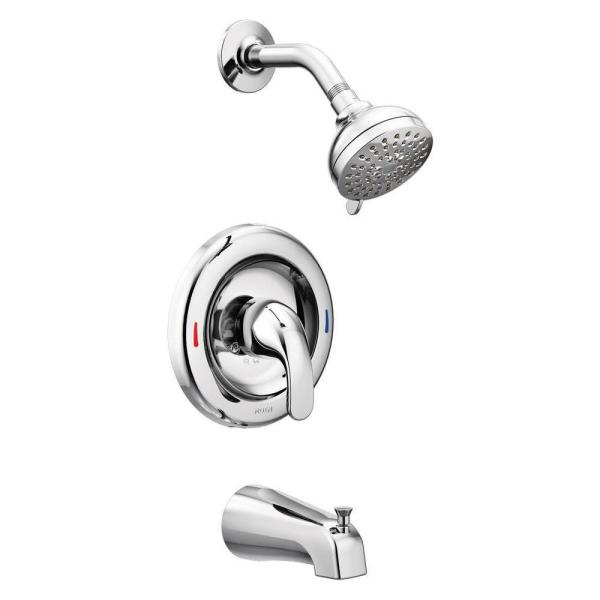 Adler Single-Handle 4-Spray Tub and Shower Faucet with Valve in Chrome (Valve Included)