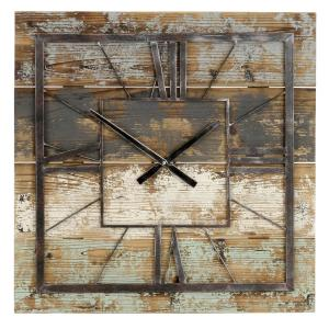 Weston Multi-colored Square Wall Clock