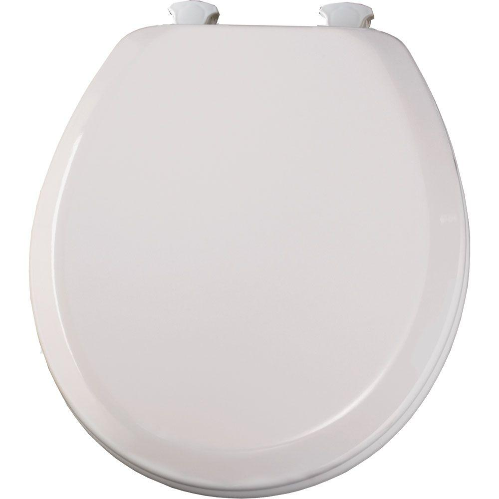 BEMIS Lift-Off Round Closed Front Toilet Seat in White