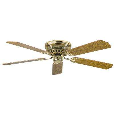 Palilly 52 in. Polished Brass Ceiling Fan with Light Kit and 5 Blades