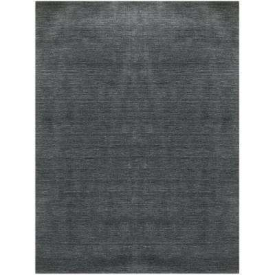 Azursto Dark Gray 4 ft. x 6 ft. Rectangle Area Rug