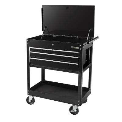 26 in. 4-Drawer Roller Cabinet Tool Chest, Black
