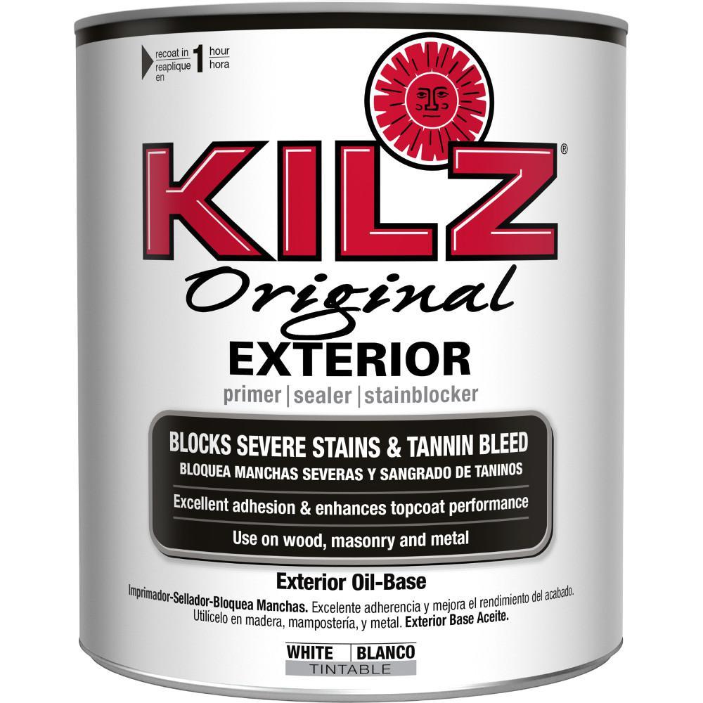 Rust oleum stops rust 1 qt flat rusty metal primer - Exterior paint oil or water based ...