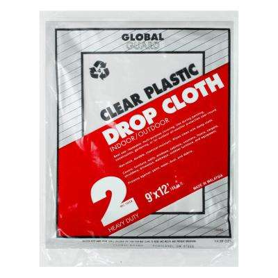 9 ft. x 12 ft. 2 mil Plastic Drop Cloth (24-Pack)
