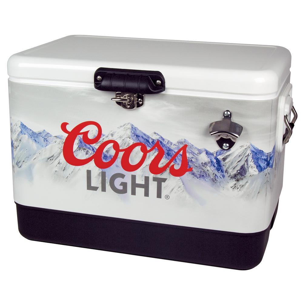 Koolatron 54 Qt Stainless Steel Coors Light Ice Chest Cooler Clic