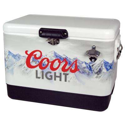 54 qt. Stainless Steel COORS Light Ice Chest Cooler