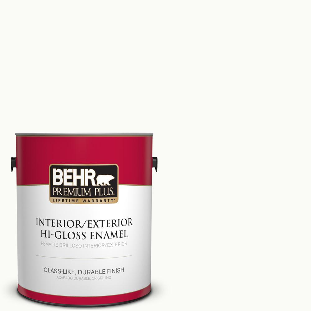1 gal. #PPU18-06 Ultra Pure White Hi-Gloss Enamel Interior/Exterior Paint