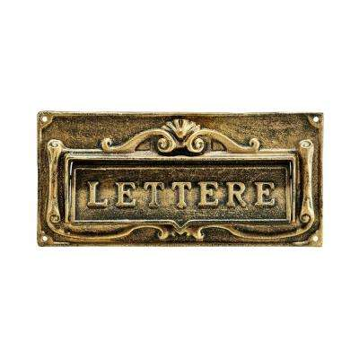 Bronze Steel Fabulous Italian Through-Door Mail Slot