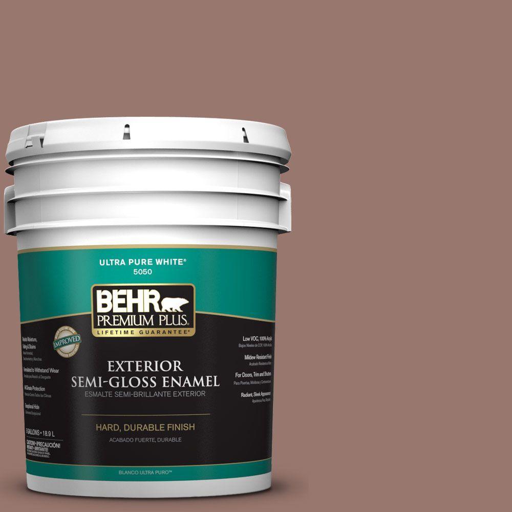 5-gal. #N160-5 Chocolate Delight Semi-Gloss Enamel Exterior Paint