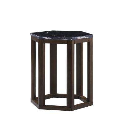 Reon 2-Piece Marble and Walnut Pack End Table