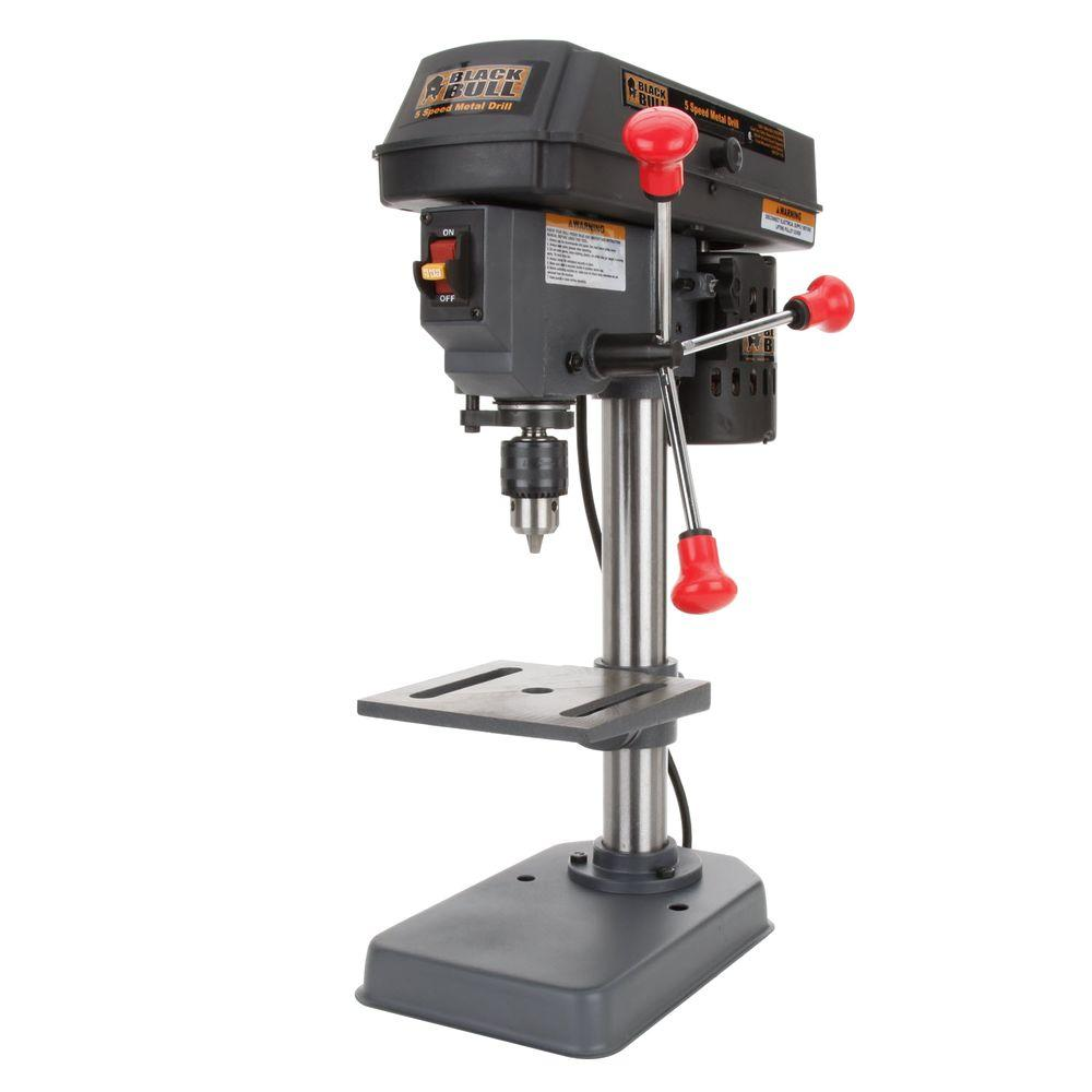 Buffalo Tools 4 In 5 Speed Mini Drill Press Dp5ul The Home Depot