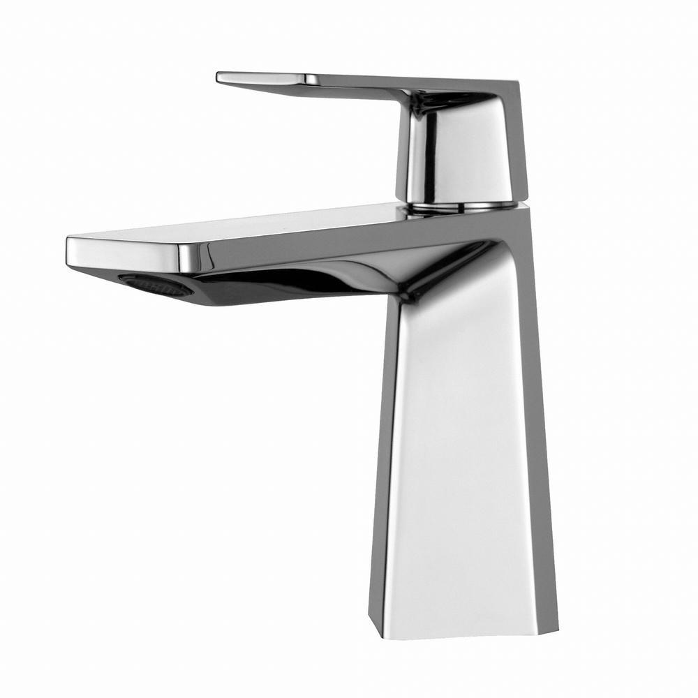 Aplos Single Hole Single-Handle Mid-Arc Bathroom Faucet in Chrome