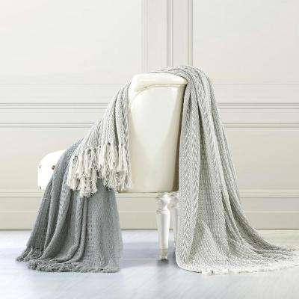 2-Pack Batik Grey 100% Cotton Throw