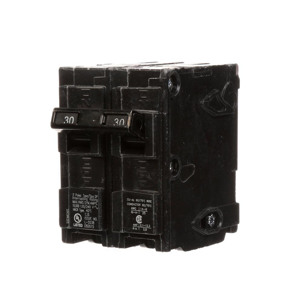 30 Amp Double-Pole Type QP Circuit Breaker