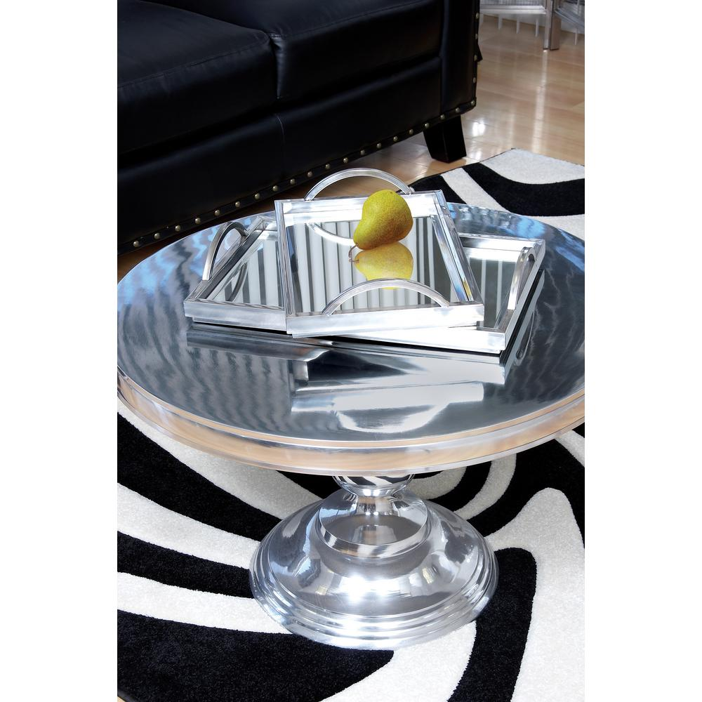 Decorative Mirrored Trays (Set of 2)