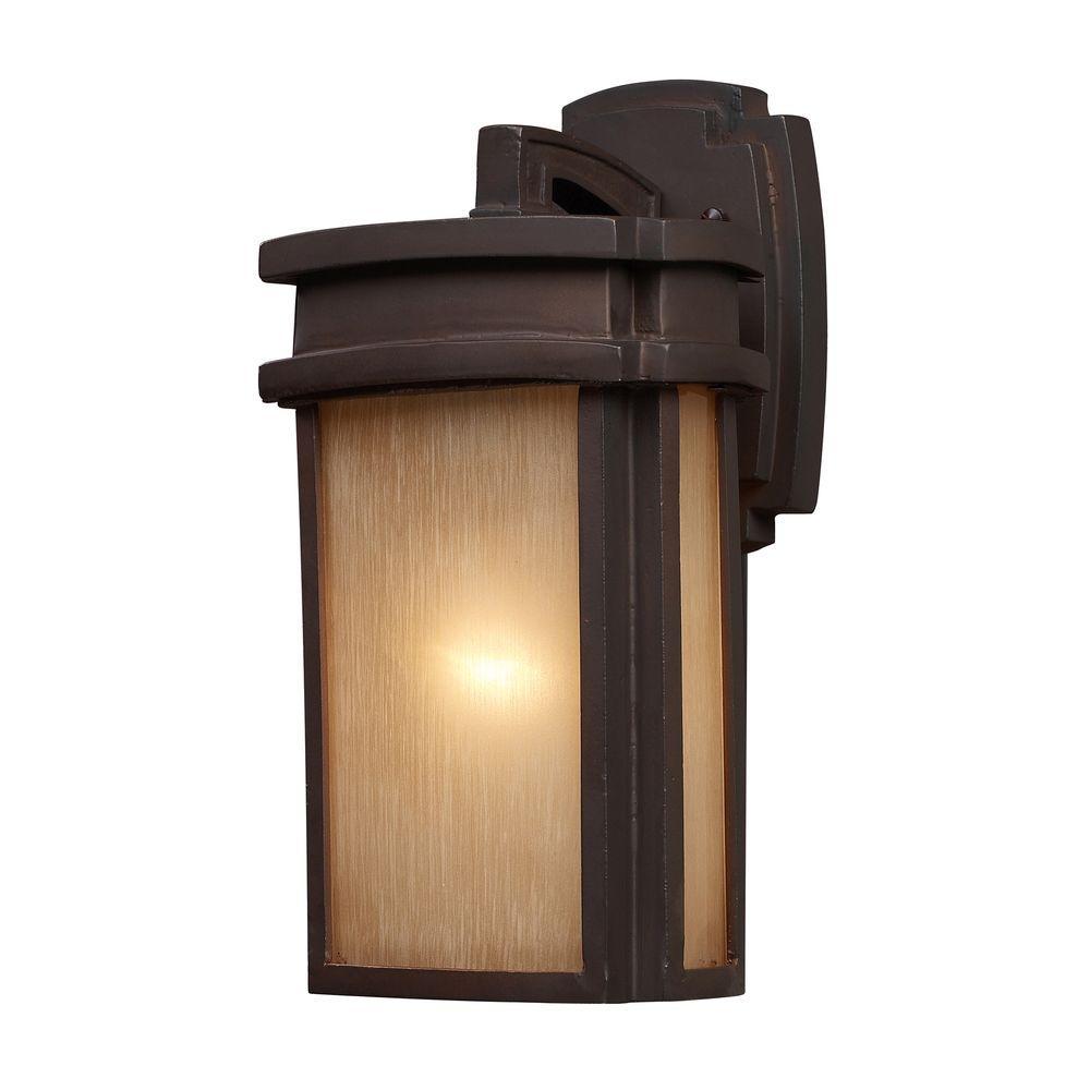 Titan Lighting Sedona Outdoor Clay Bronze Wall Sconce