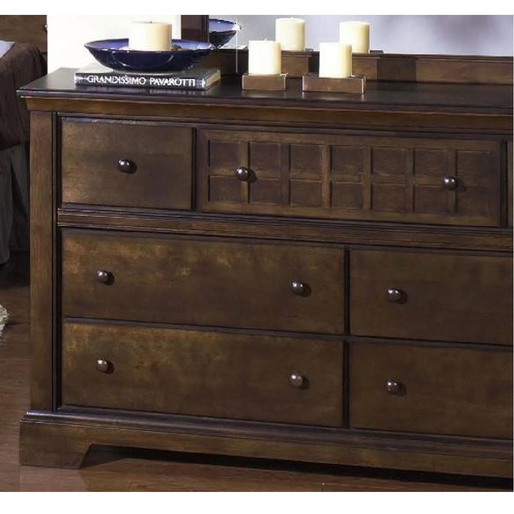 Casual Traditions 7-Drawer Walnut Dresser