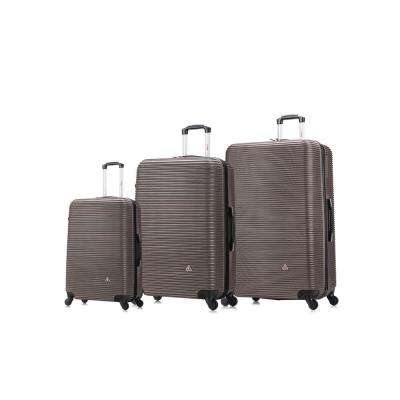 "Royal lightweight hardside spinner 3 piece Set 20"", 24"", 28"" Brown"
