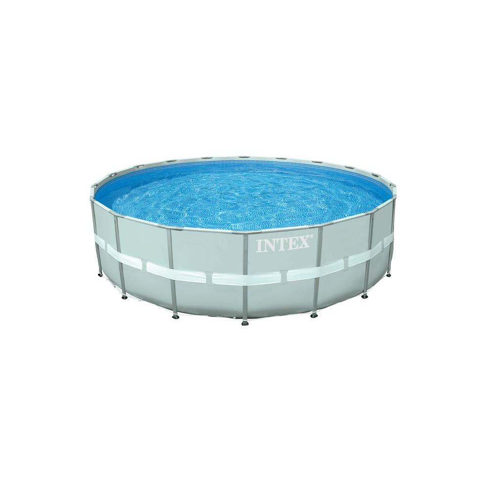 Intex 18 ft. Round 52 in. Deep Ultra Frame Above Ground Pool Set
