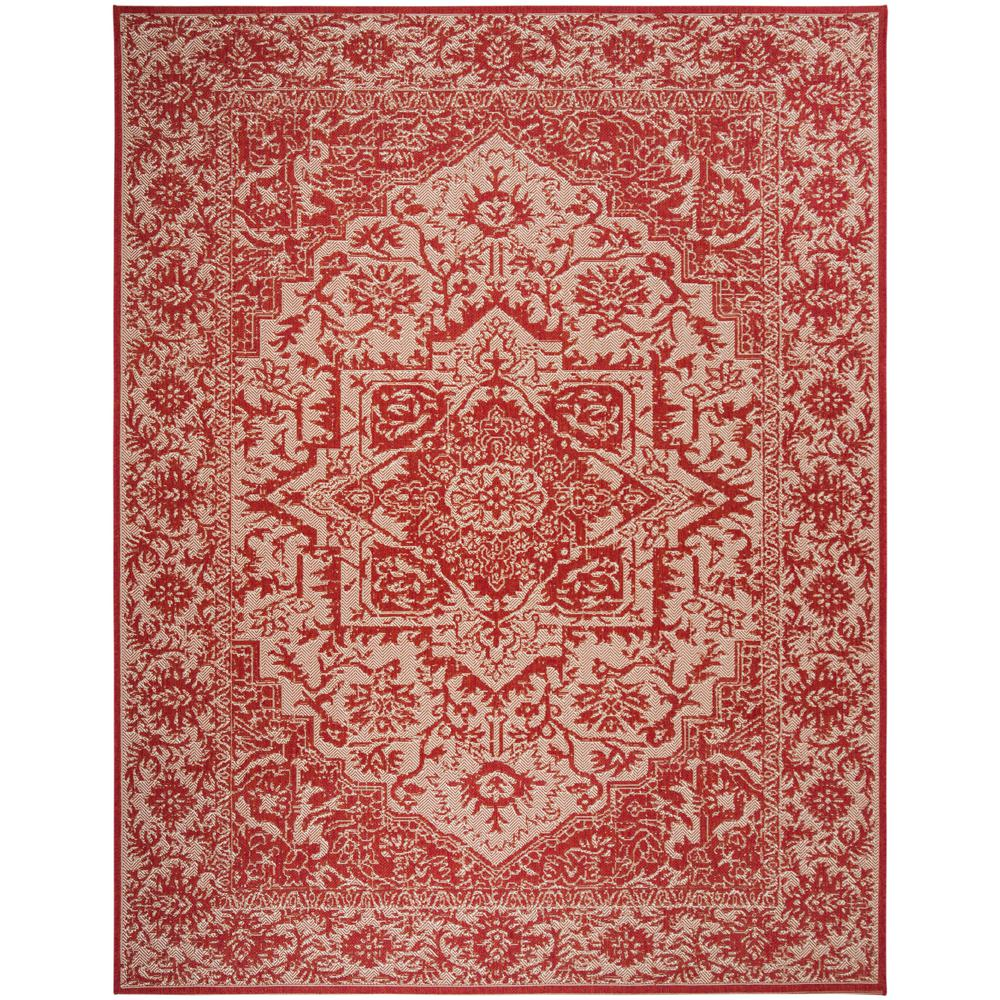 Safavieh Beach House Red Cream 9 Ft X 12 Ft Indoor Outdoor Area Rug Bhs139q 9 The Home Depot
