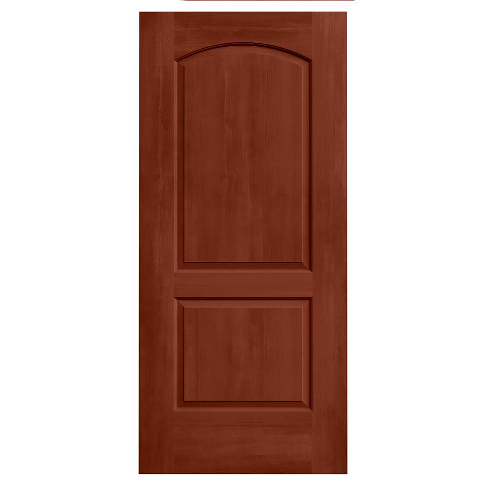 JELD WEN 36 In. X 80 In. Continental Amaretto Stain Solid Core Molded